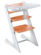 Стульчик для кормления Комфорт с жестким ограничителем Конек Горбунек (Бело-оранжевый)