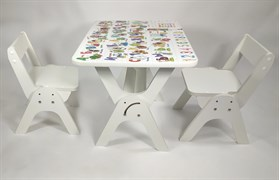 """Детский растущий стол-парта и два стула Я САМ """"Умка-Дуо"""" (Алфавит)"""