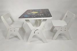 """Детский растущий стол-парта и два стула Я САМ """"Умка-Дуо"""" (Игра космос)"""