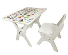 """Детский растущий стол-парта и стул Я САМ """"Умка"""" (Алфавит)"""